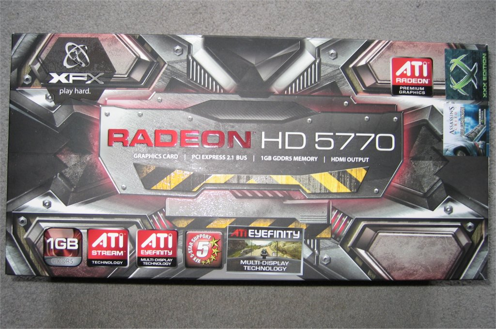 XFX Radeon HD 5770 1GB XXX Edition